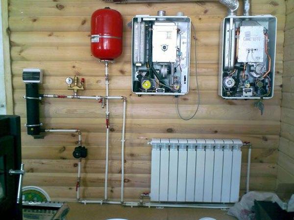 газовая мини котельная для гаража 50 м